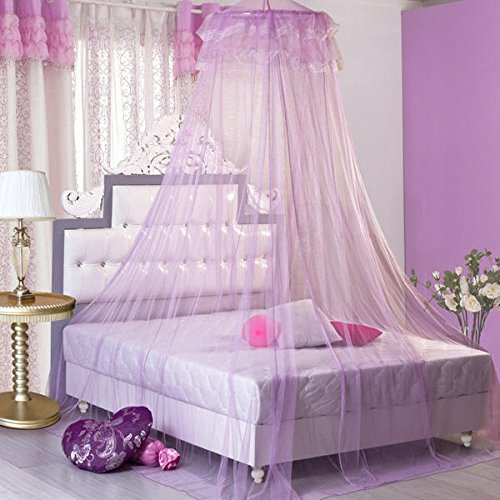 Bonk Earnings - Elegant Lace Hanging Bedding Mosquito Net Dome Princess Bed Canopy Netting - Hump Profit Seam Web Sack Intercourse Take-Home Eff Income Love Laid Reticulation - 1PCs by Unknown (Image #5)