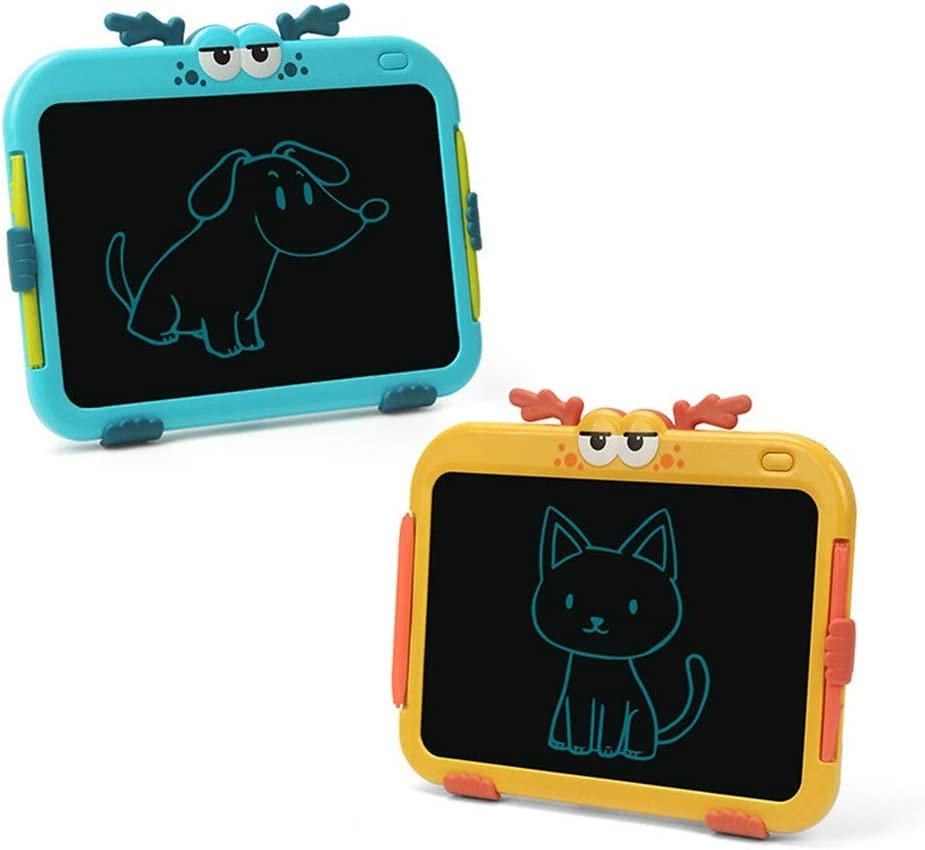 Dygzh LCD Tablet 8.5-inch LCD Panel Childrens Drawings Electronic Writing Two Colors Graffiti LCD Writing Board Color : Yellow, Size : 8.5 inches