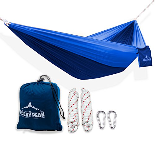 #1 Ultralight Camping Hammock with FREE ROPES – NEW Designs! for Backpacking or Hiking – [LIFETIME WARRANTY] – Portable and Super Strong