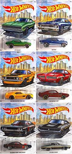 Hot Wheels Detroit Muscle Car Complete Series 6 Car Set