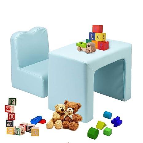 Amazon.com: JOYMOR - Sofá 2 en 1 para niños, multifuncional ...