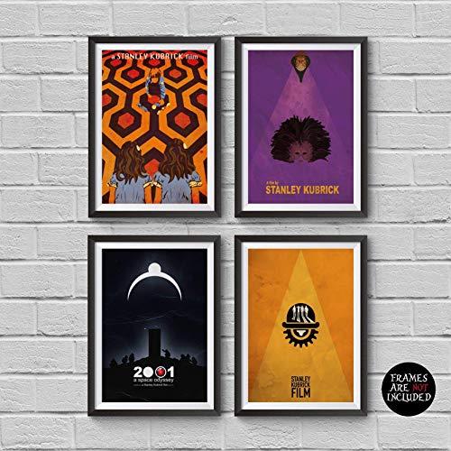 Stanley Kubrick Minimalist Poster Set of 4 Films