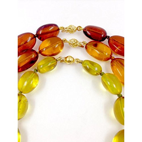 Collier artisanal Femme clna103 or jaune ambre