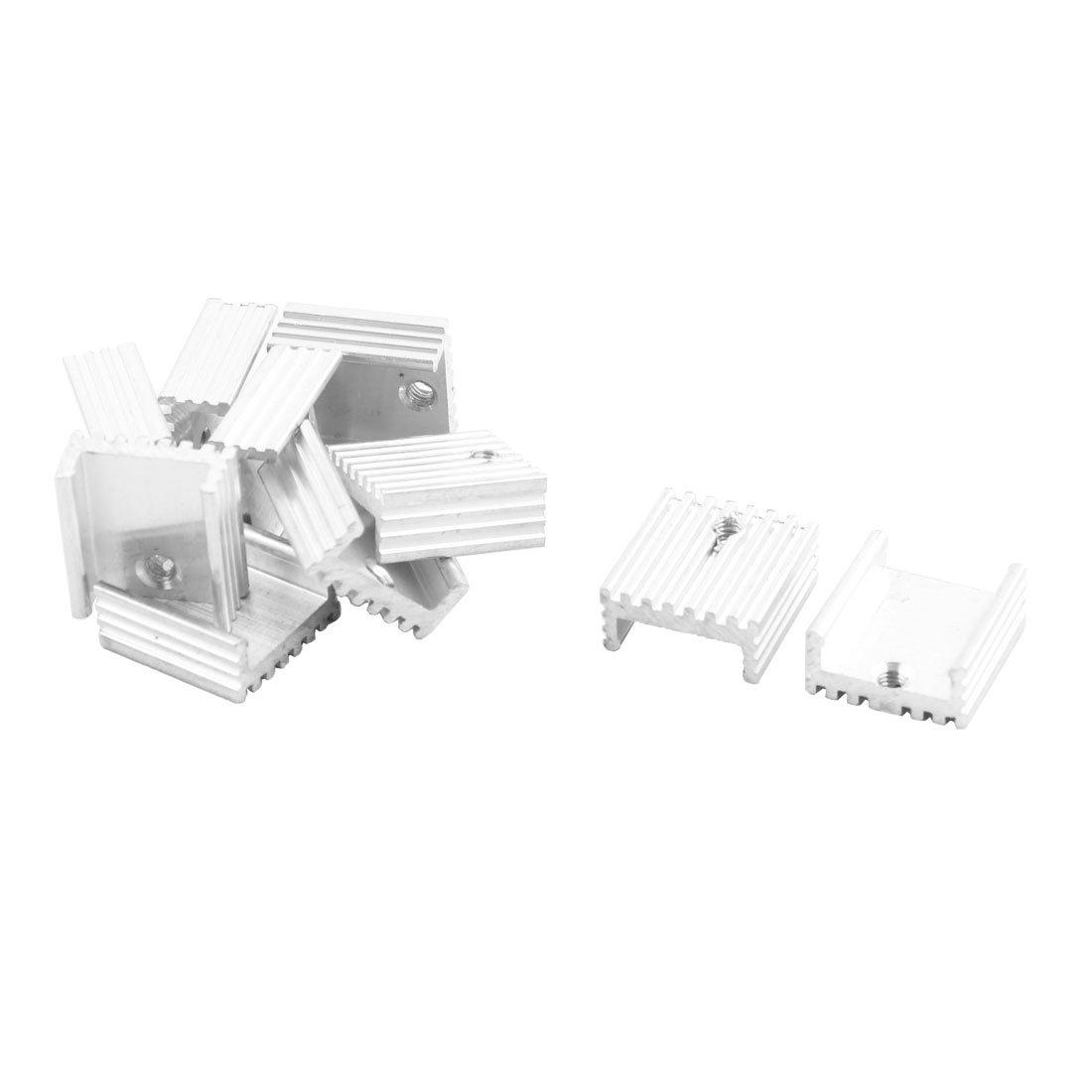 uxcell 10 Pcs 15mm x 15mm x 6mm Aluminum Heatsink for IC MOSFET SCR Component a13101700ux0227