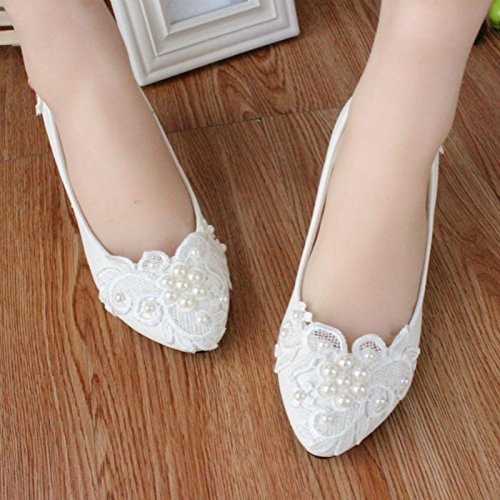 3cm Heel Pearl Wedding Customize Bride Spring Shoes Women's Flowers Party Pink Bridesmaid And Summer Lace Height Handmade Si amp; Banquet Hxq1vwnTT