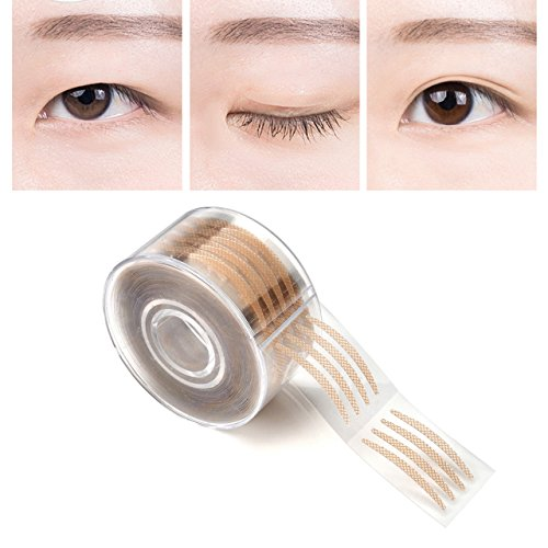 CCbeauty 300 Pairs Adhesive Invisible Fiber Double Eyelid Tape Stickers-Natural Complexion (Silm)