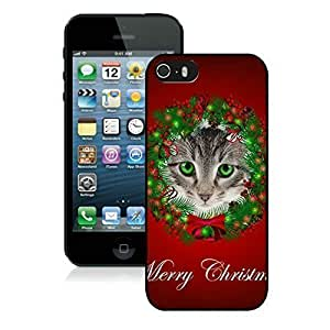 customize Father O 2014 New Style Iphone 5S Protective Cover Case Christmas Cat iPhone 5 5S TPU Case 47 Black