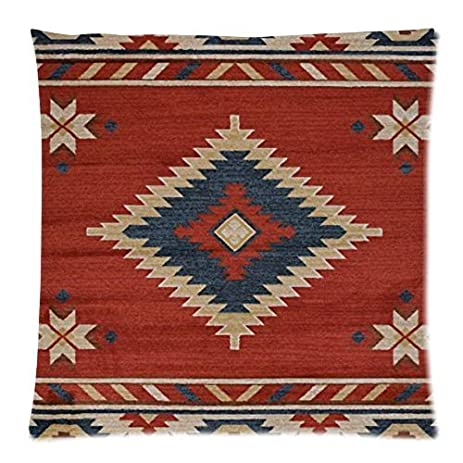 Vintage Southwest Native American Throw Pillow Case Sofa Bed Home Decor Cushion Cover 18x18 Inches