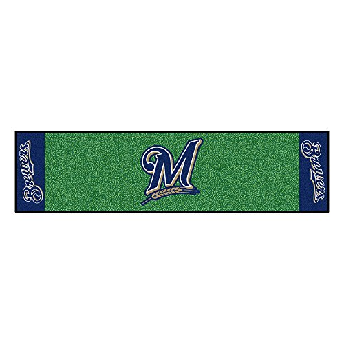 FANMATS MLB Milwaukee Brewers Nylon Face Putting Green Mat