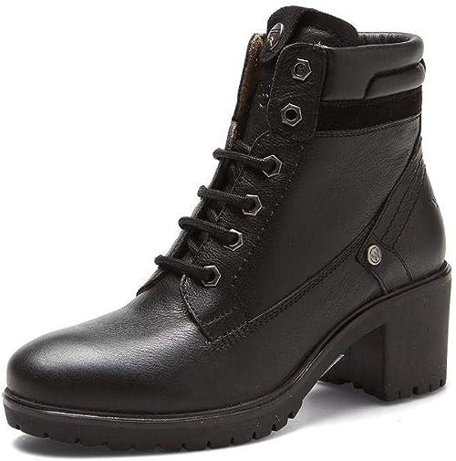 Wrangler WL182520 Sierra Ankle Boot in Black Leather Size 37 EU