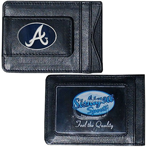 MLB Atlanta Braves Leather Cash and Card Holder (Clip Mlb)