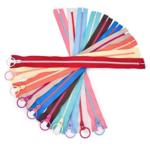 40CM 10 PCS CONTRAST COLOR 3# Resin Zippers Lifting Ring Quoit Zipper DIY Handmade Accessory Sewing Craft Bag Garment Material