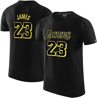 Lakers James 23 Camiseta de Manga Corta Camiseta de algodón ...