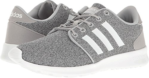 adidas Women's Cloudfoam QT Racer Running Shoe White/Clear Onix, 9 M US