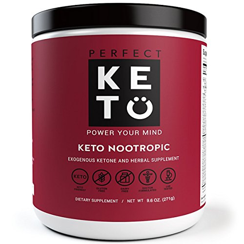Perfect Keto Nootropic Brain Supplement: Best as Nootropics Powder Booster Smart Drug Supplements to Support Memory, Focus, Energy Peak. Ginkgo, Alpha GPC. Mental Clarity & Concentration Men & Women by Perfect Keto