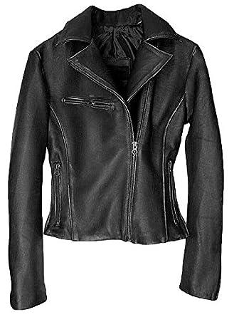 DashX Kenna-W Women's Leather Jacket Lambskin Distressed Brown at ...