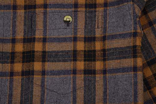 c2252b0f409 Joey CV Mens Flannel Shirts Plaid Regular Fit Long Sleeve Casual Button  Down Shirts(Grey-262,Small)