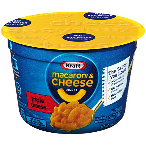 Kraft Easy Mac Triple Cheese Microwavable Cup (2.05 oz Cups, Pack of - Cheese Calorie Low