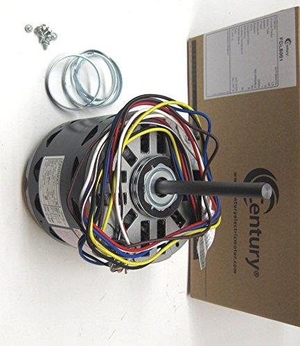 Century Furnace Air Handler HVAC Direct Drive Blower Motor 1/6-1/2 HP 1075 RPM 115 Volts 4 Speed FDL6001 Multi (Hvac Motor)