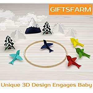 Baby Crib Mobile by Giftsfarm, Woodland Baby Mobile, Crib Mobile for Boys and Girls Nursery Décor