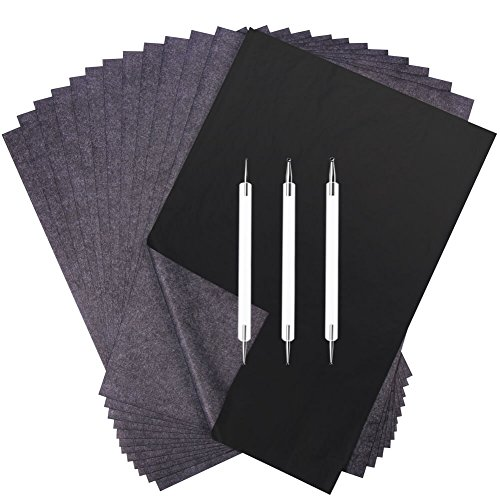 - Selizo 100 Sheets Carbon Transfer Paper with Embossing Stylus Set for Wood Tacing Copy