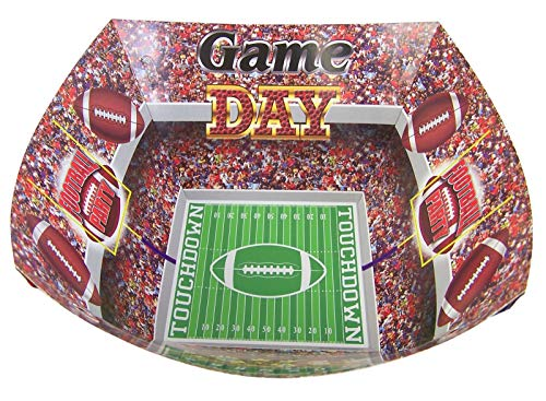 Game Day Birthday Party Football Stadium Snack Bowls, 7 1/2 Inch, Pack of 2 -