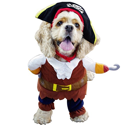 [Cute Pet Dog Funny Pilates Costume Washable Puppy Party Apparel 4 Sizes (XL)] (Halloween Costume Ideas Unique Funny)