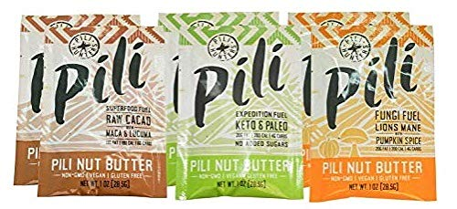 Pili Hunters Pili Nut Butter Variety Pack, Keto, Paleo, Vegan, Low Carb, 1 oz. Adventure Packets - 6-Pack