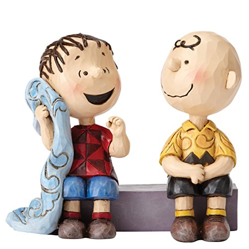 Peanuts by Jim Shore Charlie Brown and Linus Stone Resin Figurine, 4""