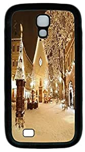 Black Soft Rubber Case Cover For Samsung Galaxy S4 I9500 TPU Back Phone Case Single Shell Skin For Samsung Galaxy S4 I9500 With Winter Night by Maris's Diary