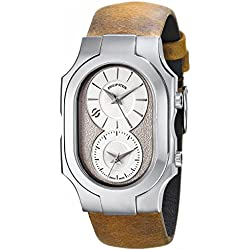Philip Stein Men's 200-SLG-CAM Swiss Signature Analog Display Swiss Quartz Brown Watch