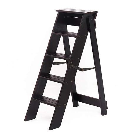 Escaleras para sillas de Madera Plegables Taburete de 5 ...