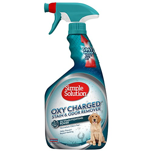 Simple Solution Oxy Charged Pet Stain and Odor Remover | Eliminates Pet Stains and Odors with 3X Cleaning Power | 32 ()