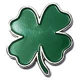 Ireland Heritage Luck of the Irish Four Leaf Clover Enamel Pin - Lapel or Fabric Pin