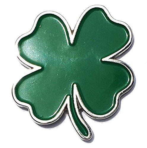 (Ireland Heritage Luck of the Irish Four Leaf Clover Enamel Pin - Lapel or Fabric Pin)