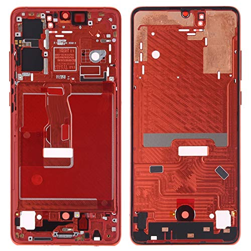 Mobile Phone Full Housing Cover Front Housing LCD Frame Bezel Plate with Side Keys for Huawei P30(Orange) Full Housing Cover (Color : Orange)