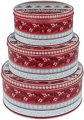 macosa eb400019 Juego de 3 Cajas rectangulares para Galletas ...