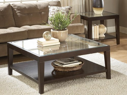 - Vincent 2 Piece Coffee Table Set by Homelegance in Espresso
