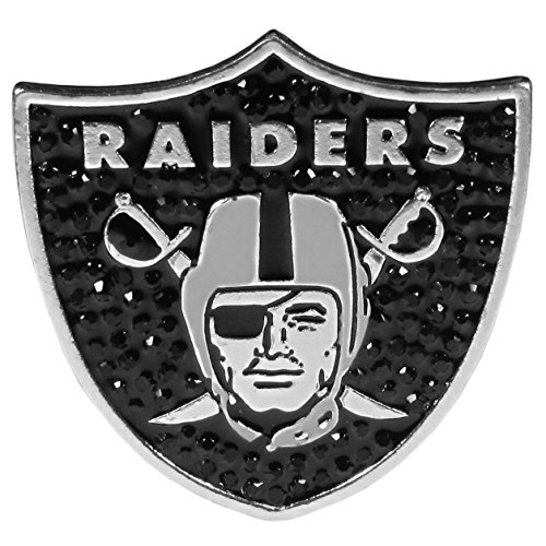 (Siskiyou NFL Oakland Raiders Silver Plated Crystal Pin )