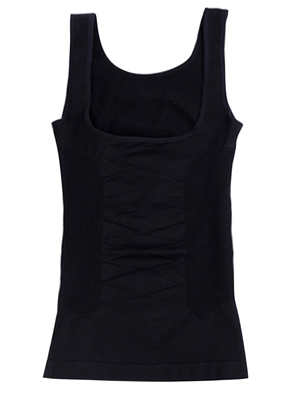 Feoya women's Shaping Control Open-bust Vest with Flat Belly Effect Camisole