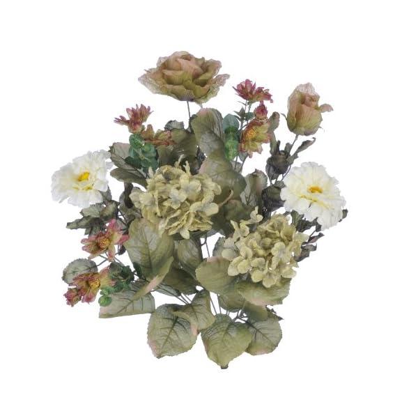 Artificial 21-inch Earth-Tone Dry-Look Hydrangea/Rose/Daisy Bush (Set of 6)