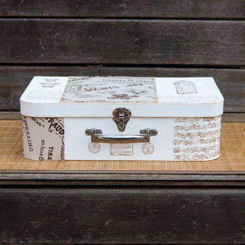 Maletín decorado y pintado para regalo del DIA DEL PADRE. Caja decorada estilo vintage-