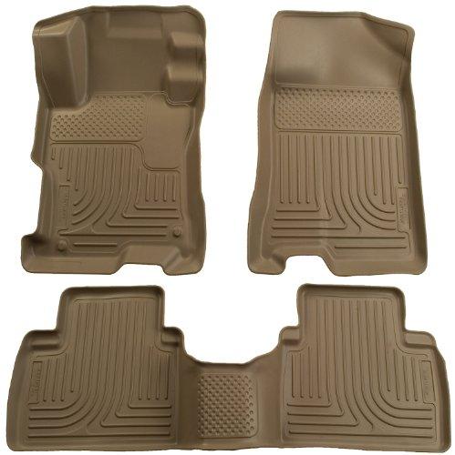 Front Door 4 Tan Floor (Husky Liners Front & 2nd Seat Floor Liners Fits 07-12 Altima 4 Door)