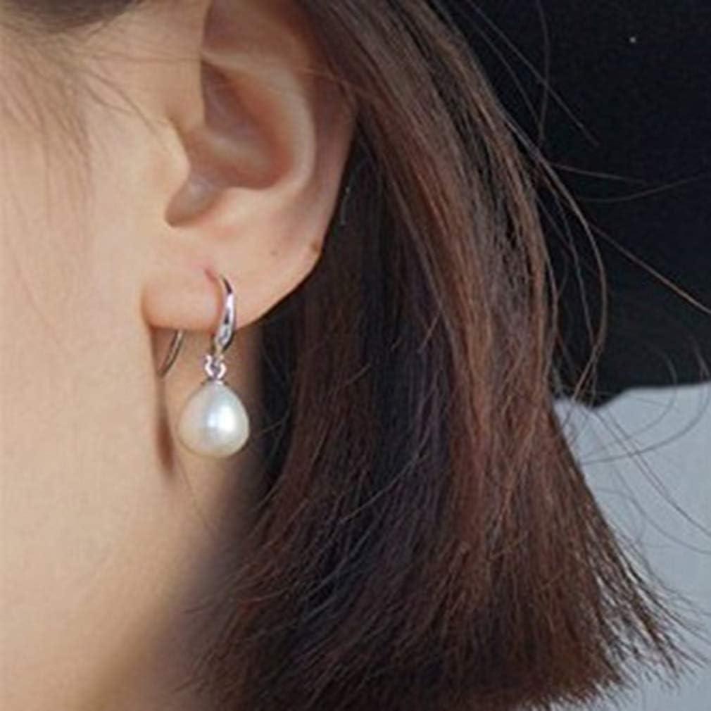 Weiy - Pendientes de Perlas de imitación, diseño de lágrima, Aleación, Blanco, As Description