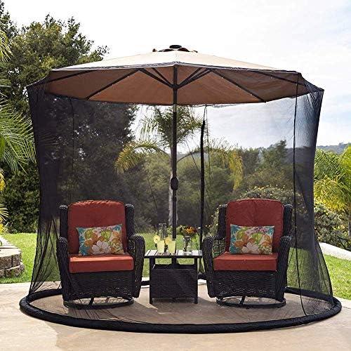 蚊帳、7.5ftパティオ傘カバー、ジッパードア付きパティオ傘スクリーン、傘カバー蚊帳スクリーン、ガーデン屋外パティオキャノピーメッシュ