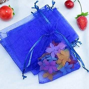 100 bolsas de regalo de organza con cordón para bodas ...