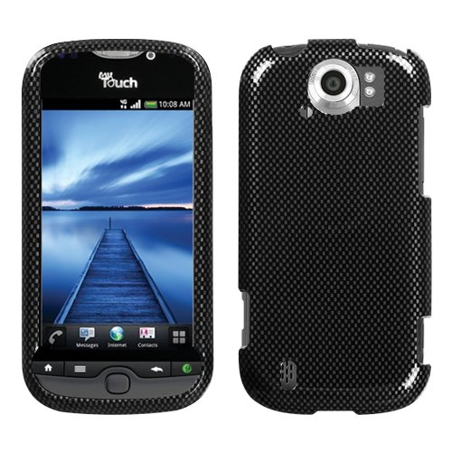 Carbon Fiber Phone Protector Faceplate Cover For HTC myTouch 4G Slide (Protector Fiber Faceplate Carbon)