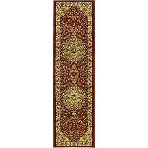 Safavieh Lyndhurst Collection LNH222B Traditional Oriental Medallion Red and Ivory Runner (2'3