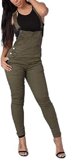EnergyWD Womens Skinny Jumpsuit Denim Rompers Casual Fashion Bid Pants