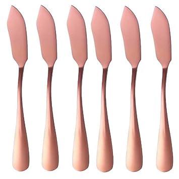 Frolahouse - Juego de 6 cuchillos de mantequilla de acero ...